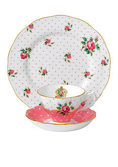 Royal Albert CHKY PINK 3PC TEA/SC