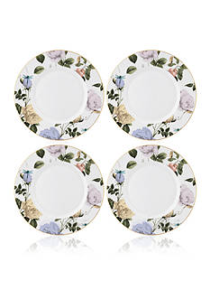 Portmeirion Rosie Lee Set of 4 White Dinner Plate
