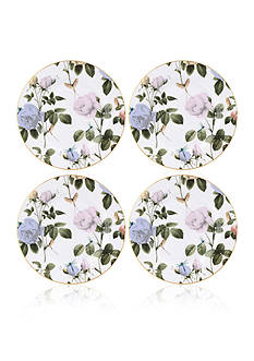 Portmeirion Rosie Lee Set of 4 White Salad Plates