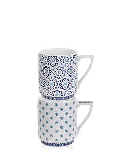 Portmeirion Balfour Set of 2 Stacking Mugs