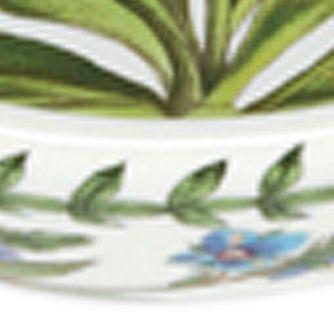 Portmeirion Dishes: White Portmeirion Botanic Garden Saucer 6.in.