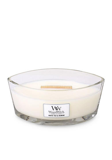 WoodWick® White Tea and Jasmine Ellilpse Candle
