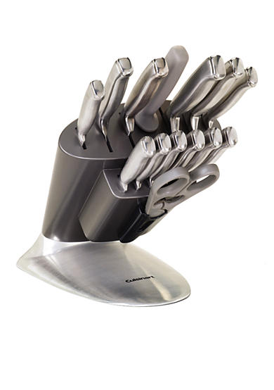 Cuisinart 15-piece Stainless Steel Cutlery Set in Fan Block
