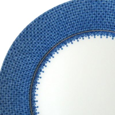 Designer Tabletop: Shop All: Blue/Wht Mottahedeh LACE SRVC PLT GRN AP
