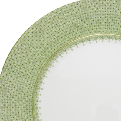Designer Tabletop: Shop All: Grn Apple Mottahedeh LACE SRVC PLT GRN AP