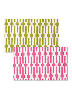 VIETRI Pink Link/Lime Green Link Placemat