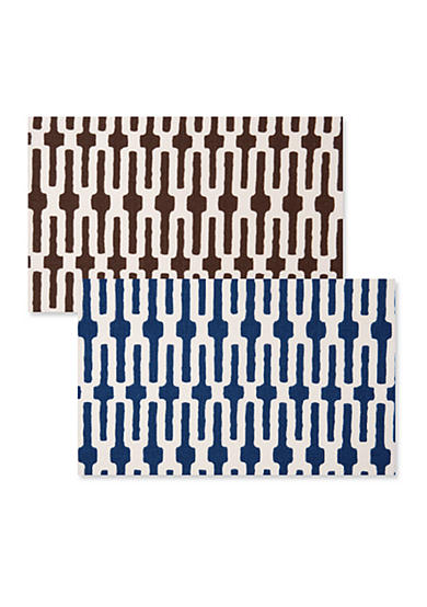 Indigo Link/Chocolate Link Placemat