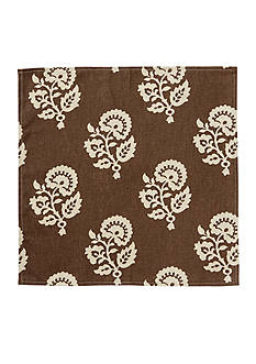 Brown Modern Damask Napkin