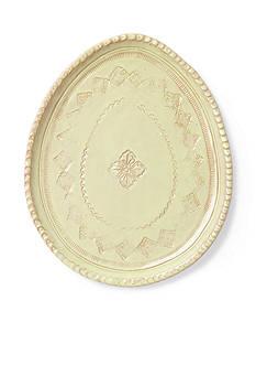 VIETRI Bellezza Spring Celadon Oval Salad Plate