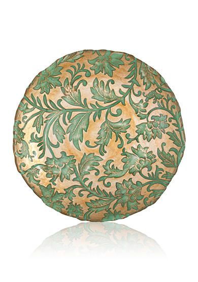 Damask Glass Aqua Salad Plate