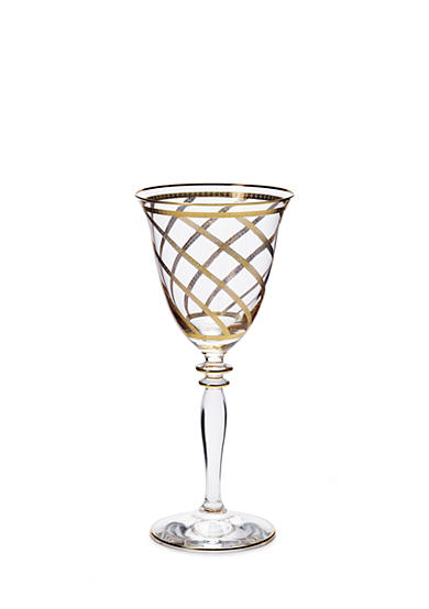 VIETRI Elegante Lattice Wine Glass