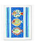 Fish-Fish Blue Dish Towel 28-in. x 22-in.
