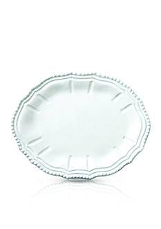 Vietri Incanto White Baroque Oval Platter