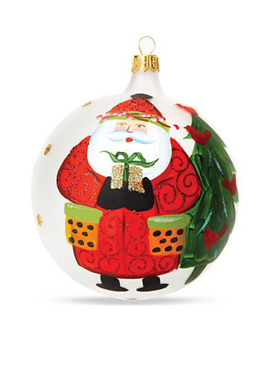 Old St. Nick Present Ornament