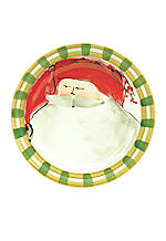 Old St. Nick Red Hat Santa Round Salad Plate 8.25-in.