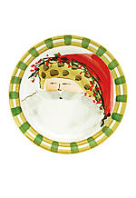 Old St. Nick Animal Hat Santa Round Salad Plate 8.25-in.