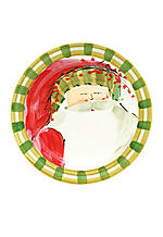 Old St. Nick Striped Hat Santa Round Salad Plate 8.25-in.