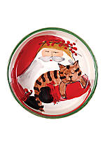 Old St. Nick Santa Cat Bowl 5.5-in. x 2-in.