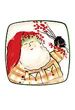 Old St. Nick Santa Square Canape Plate 3.5-in. x 3.5-in. x 4.5-in.