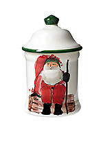 Old St. Nick Santa Small Canister 7-in. H.