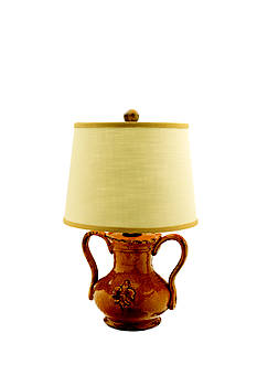 VIETRI Amber Handled Mini Lamp