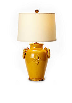 VIETRI Amber Lamp With Round Handles
