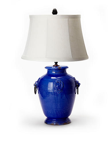 Cobalt Lamp With Ring Handles