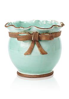 VIETRI Rustic Garden Aqua Planter Bowl