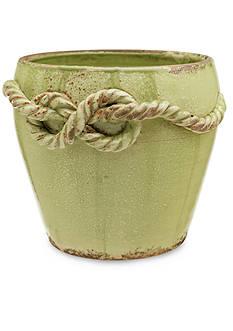VIETRI Rustic Garden Medium Pistachio Knot Cachepot