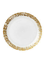 Ruffle Glass Gold Salad Plate 8.5-in.
