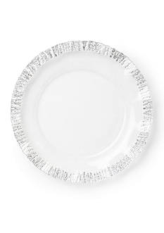 VIETRI Ruffle Glass Platinum Service Plate and Charger