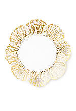 Ruffle Glass Gold Canape Plate 6.5-in.