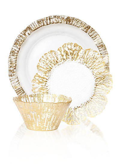 Ruffle Glass Gold
