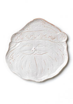 VIETRI Bellezza Holiday Santa Medium Platter
