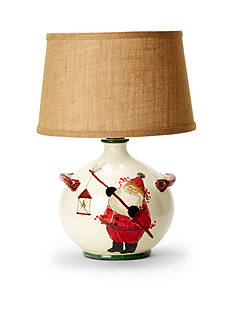 VIETRI Old St. Nick Round Lamp