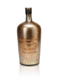 VIETRI San Gimignano Wide Vintage Glass Bottle