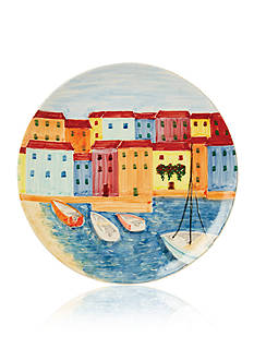 VIETRI Murano Round Wall Plate with Four Boats