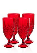Godinger Dublin Red Set of 4 Iced Tea Glasses