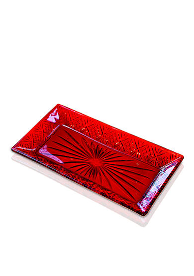 Godinger Dublin Red Small Rectangular Tray