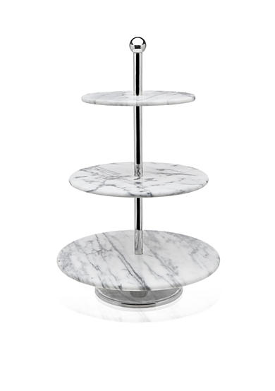 Godinger La Cucina White Marble 3-Tier Server