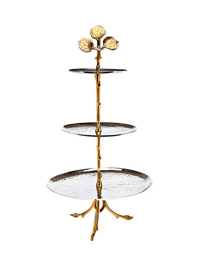 Godinger Gold Leaf 3 Tier Server - Online Only