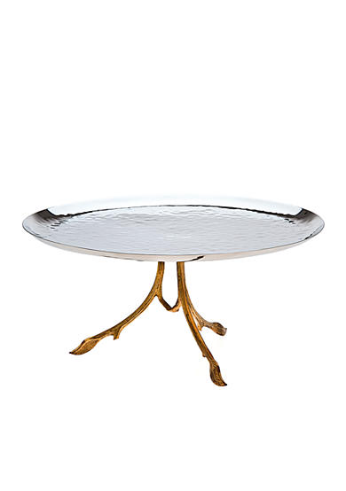 Godinger Gold Leaf Footed Tray - Online Only