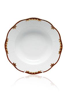 Herend Princess Victoria Brown Rim Soup Plate