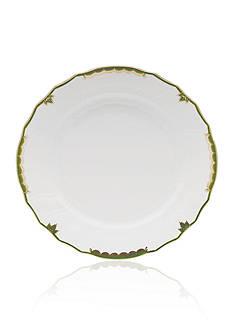 Herend Princess Victoria Dark Green Dinner Plate