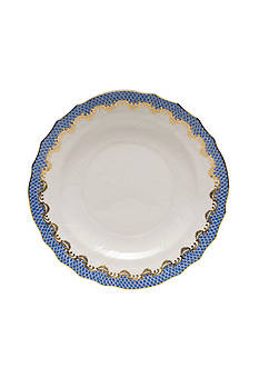 Herend Fishscale Blue Salad Plate