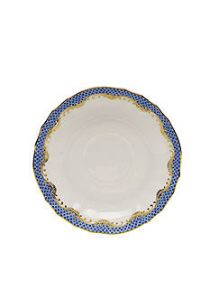 Herend Fishscale Blue Canton Saucer