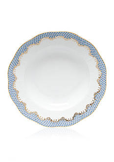 Herend Fish Scale Light Blue - Rim Soup Plate