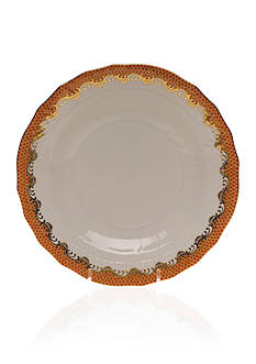 Herend Fish Scale Rust Dessert Plate