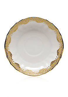 Herend Fish Scale Gold Canton Saucer 5.5-in. D - GOLD