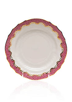 Herend Fish Scale Pink Bread & Butter Plate